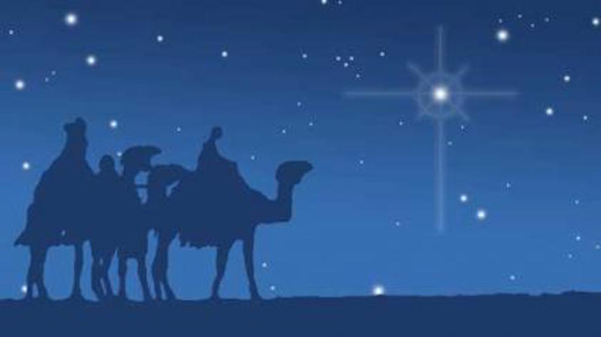 Three wise men and north star pictured