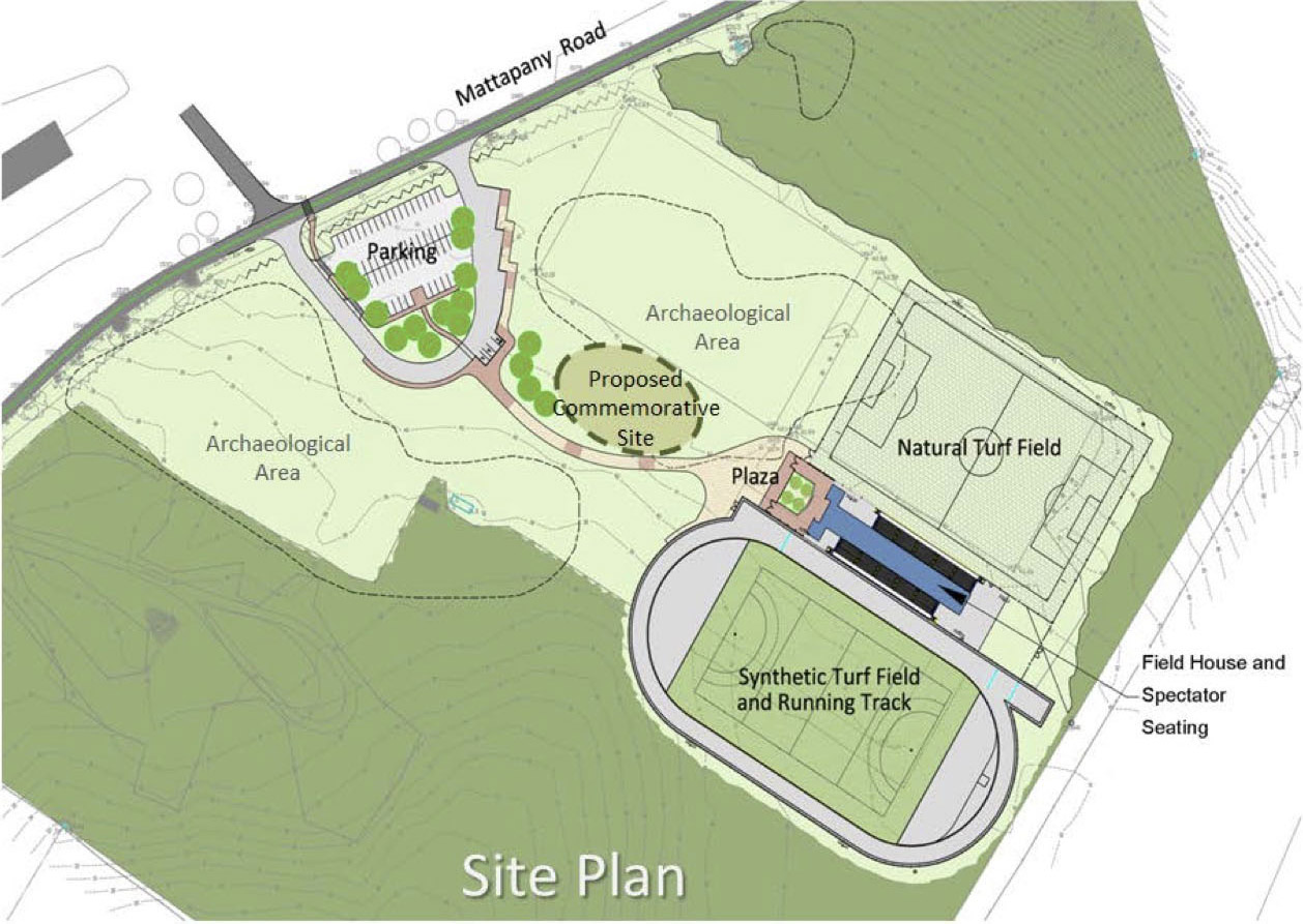 Site plan of commemorative memorial