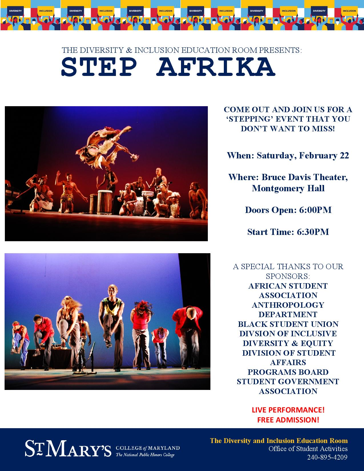 Flyer for STEP AFRIKA