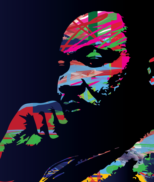 stylized image of MLK Jr