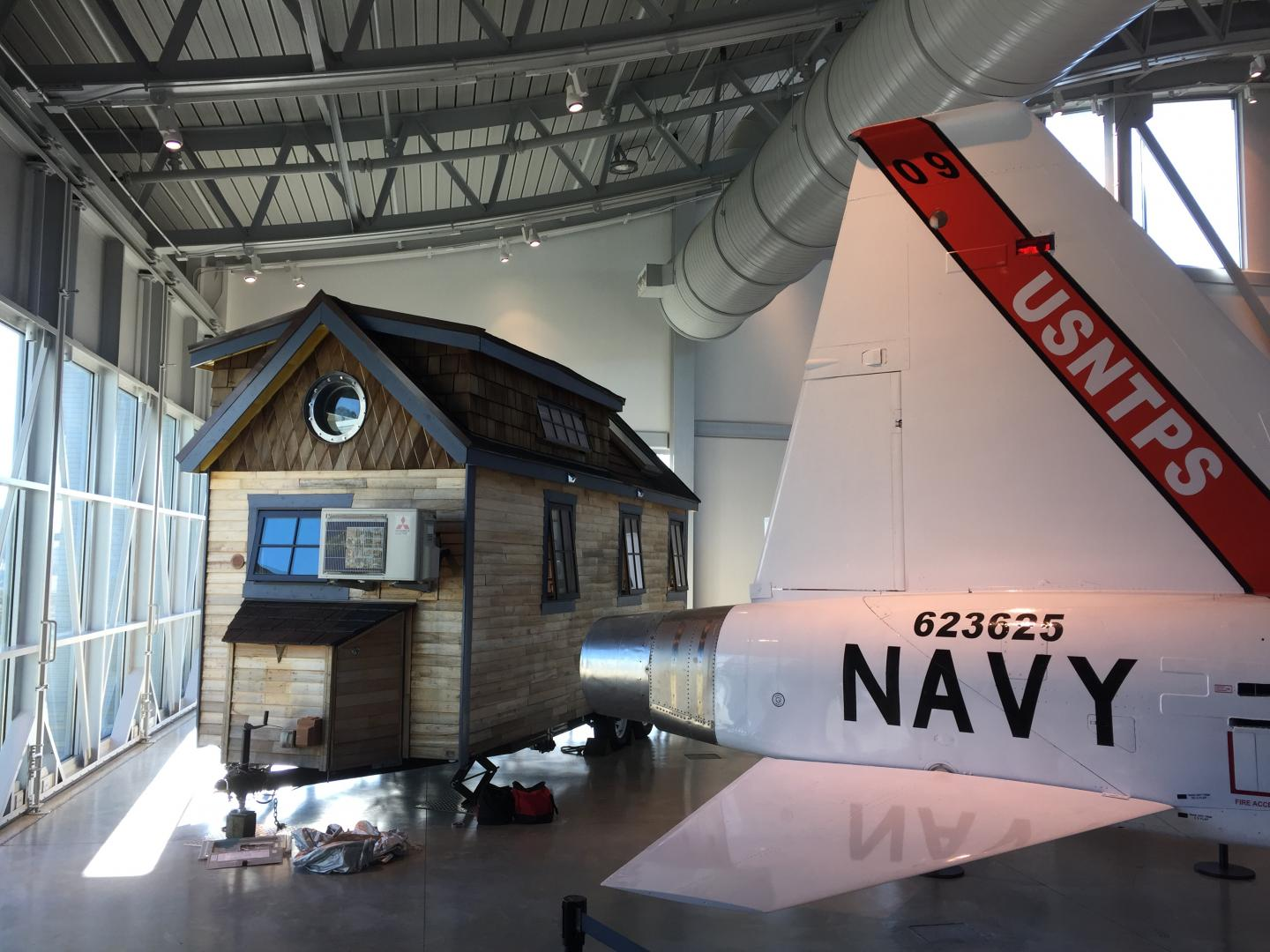 SMCM Tiny House in display at the Patuxent River Naval Air Museum