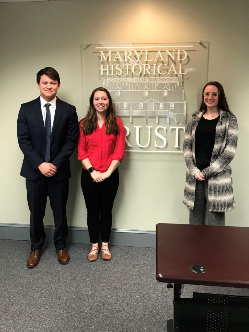 Photo of Kaitlin Aaby ('18), Ava Jensan ('20), and Jacob Rosenzweig-stein ('20)