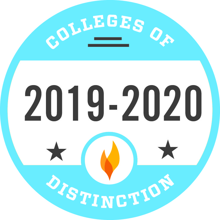 College of Distinction badge pictured