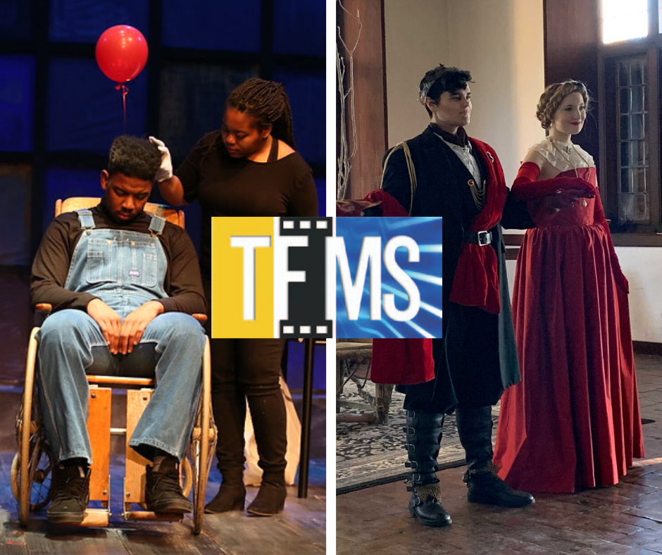 TFMS logo and students with scene partners pictured