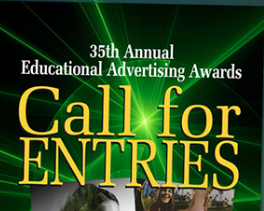 Higher education marketing awards logo pictured