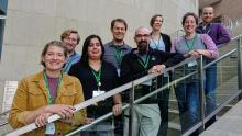 Director of the Center for Inclusive Teaching and Learning Samantha Elliott, and members of the two departments involved in the CUR-TP Project, including psychology: Professor Aileen Bailey (co-lead), Assistant Professor James Mantell (co-lead), Assistant Professor Torry Dennis, Assistant Professor Gina Fernandez, and chemistry/biochemistry: Associate Professor Kelly Neiles (co-lead), Assistant Professor Geoffrey Bowers, and Assistant Professor Daniel Chase pictured