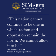 """This nation cannot continue to be one in which racism and oppression remain the norm.  We cannot allow it to be."""