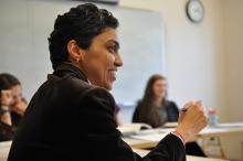 Sahar Shafqat pictured teaching class