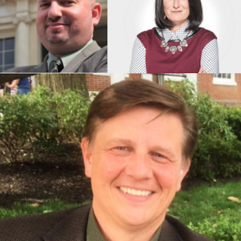 Bryan Sears, Maryland politics reporter for The Daily Record; Mileah Kromer, director of the Goucher Poll at Goucher College; and Todd Eberly, St. Mary's College associate professor of political science and interim director for the Center for the Study of Democracy.