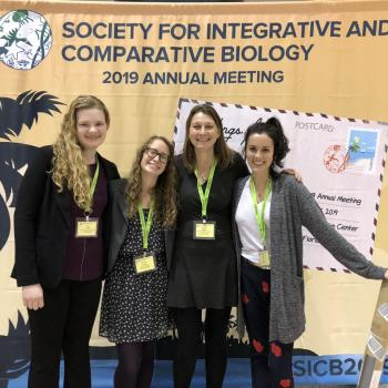 Dr. Malisch and her Lab at SICB 2019