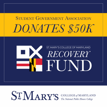 Graphic image stating SGA donates $50,000 to Recovery Fund