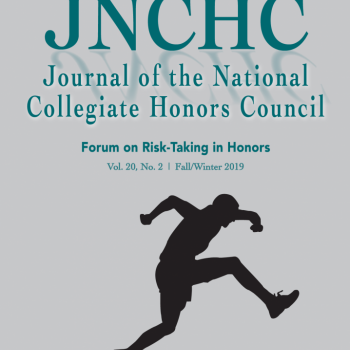 Journal of the National Collegiate Honors Council cover pictured