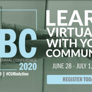 CUR Virtual Biennial Conference 2020, June 29-July 1 logo and register now information shown