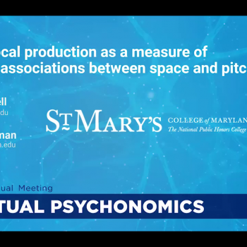 Title slide from virtual poster presentation by Rachel Steelman and James Mantell.
